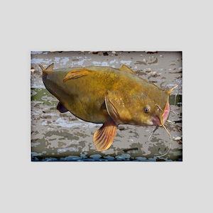 Big Flathead Catfish 5'x7'Area Rug
