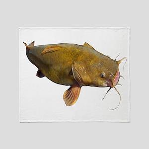 Big Flathead Catfish Throw Blanket