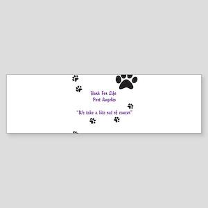 Bark For Life Bumper Sticker