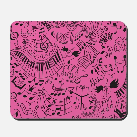 Music Doodle Gift Mousepad
