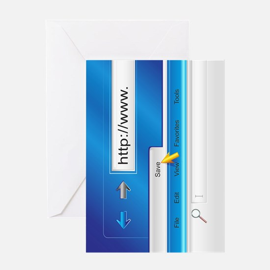 Web Page Browser Greeting Card
