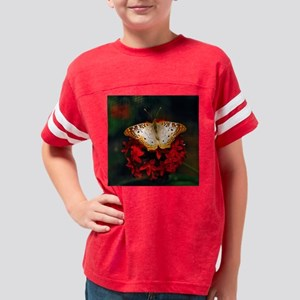 white peacock butterfly frame Youth Football Shirt