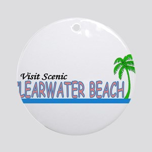 Visit Scenic Clearwater Beach Ornament (Round)
