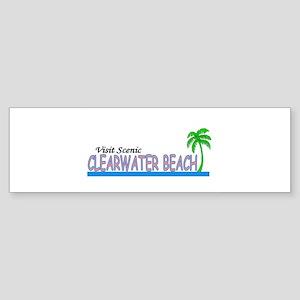 Visit Scenic Clearwater Beach Bumper Sticker