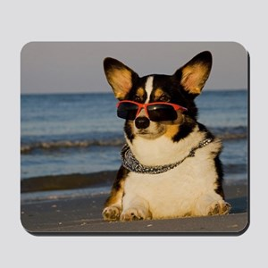 Cool Dog at the Beach Mousepad