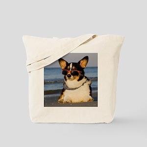 Cool Dog at the Beach Tote Bag