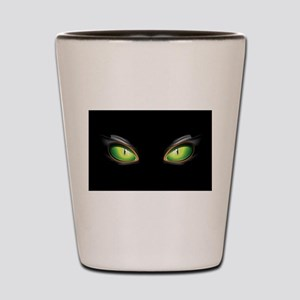 Cat Green Eyes Shot Glass