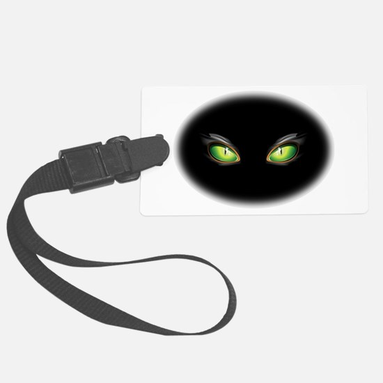 Cat Green Eyes Luggage Tag