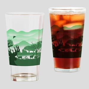 Morning Hunt Drinking Glass
