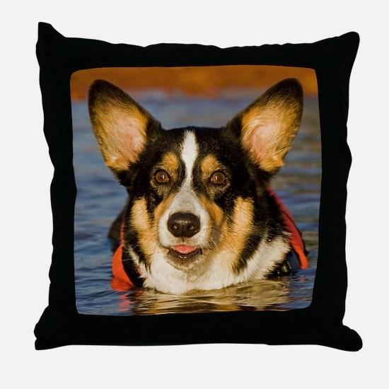 Cute Corgi Throw Pillow