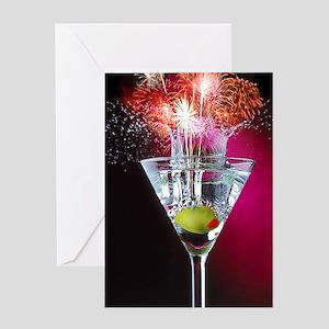 First Martini Greeting Card