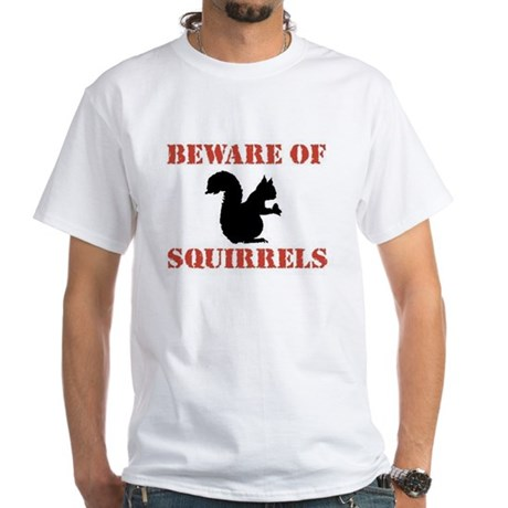 Beware of Squirrels Ash Grey T-Shirt