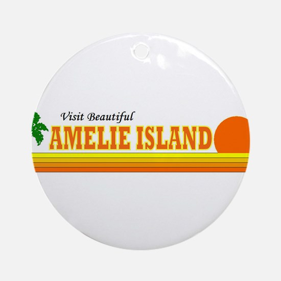 Visit Beautiful Amelie Island Ornament (Round)