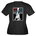 SNC 14 Women's Plus Size V-Neck Dark T-Shirt
