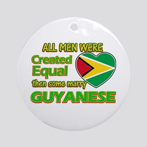 Guyanese wife designs Ornament (Round)