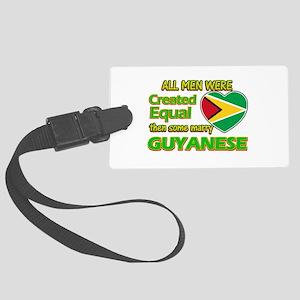 Guyanese wife designs Large Luggage Tag
