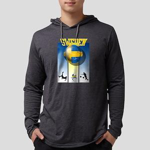 Swedish Football Mens Hooded Shirt