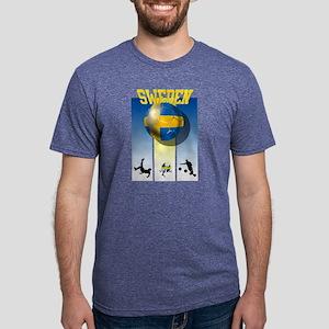 Swedish Football Mens Tri-blend T-Shirt