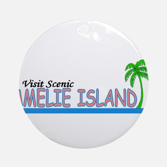 Visit Scenic Amelie Island, F Ornament (Round)