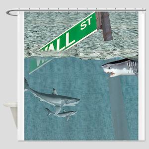 Sharks of Wall Street Shower Curtain
