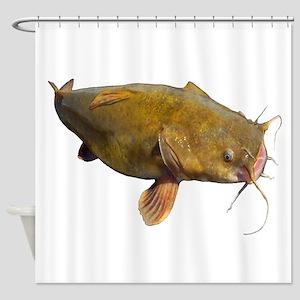 Big Flathead Catfish Shower Curtain