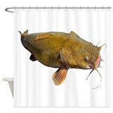 Big flathead catfish shower Home Decor