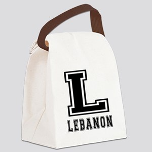 Lebanon Designs Canvas Lunch Bag