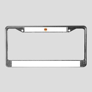 SUN WARMED License Plate Frame