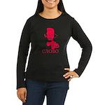 Gangster Lenin (Red) Women's Long Sleeve Dark T-Sh