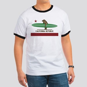 California Surfing Bear Longboard T-Shirt