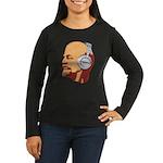 Lenin wearing heaphones Women's Long Sleeve Dark T