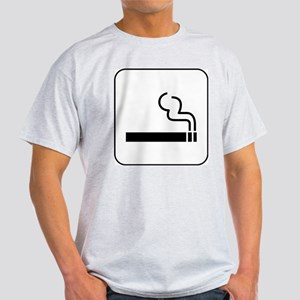 Smoking Permitted Ash Grey T-Shirt