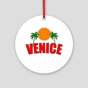 Venice, Florida Ornament (Round)