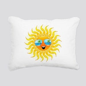 Summer Sun Cartoon with Sunglasses Rectangular Can