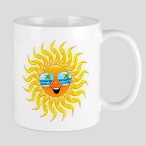 Summer Sun Cartoon with Sunglasses Mug