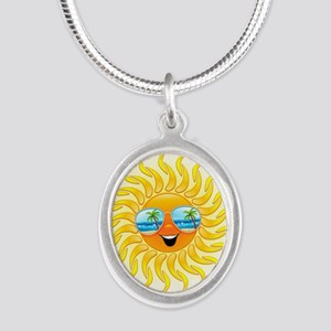 Summer Sun Cartoon with Sunglasses Necklaces