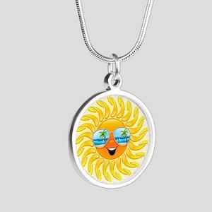 Summer Sun Cartoon with Sunglasses Necklaces