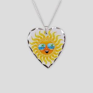 Summer Sun Cartoon with Sunglasses Necklace