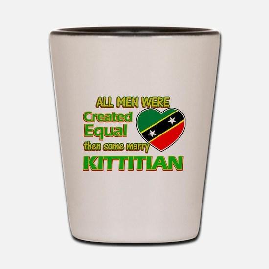 Kittitian wife designs Shot Glass
