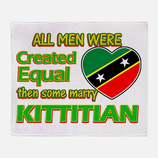 Kittitian wife designs Throw Blanket