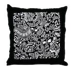 Music Teacher Doodles Gift Throw Pillow