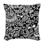 Music Teacher Doodles Gift Woven Throw Pillow