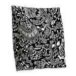 Music Teacher Doodles Gift Burlap Throw Pillow