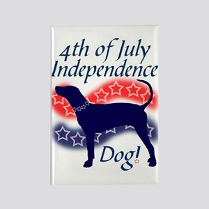 Independence Coonhound Rectangle Magnet