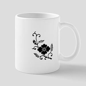 Rhombic chinese flower branch Mug