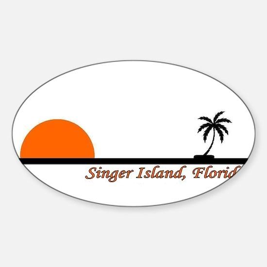 Singer Island, Florida Oval Decal