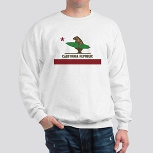California Surfing Bear Sweatshirt