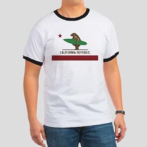 California Surfing Bear T-Shirt