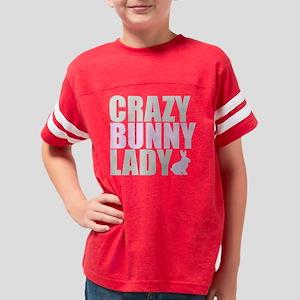 CRAZY BUNNY LADY 2 CLEAR copy Youth Football Shirt