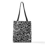 Music Teacher Doodles Gift Polyester Tote Bag